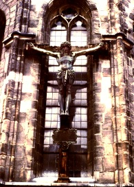 Crucifix at Nuremberg Cathedral Photo by Sam Matteson 1978