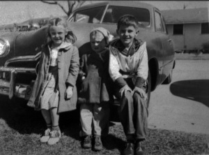 Cousin Margaret Ann (L), Sammy Gene and Cousin Nelson Jenkins (R) ca. 1952