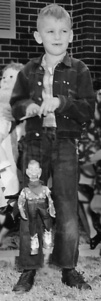 Sammy with his vintage Hoody Doody Puppet. Photo Credit: Audrey Matteson Christmas 1954