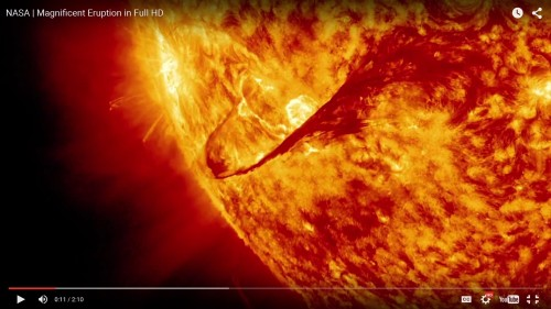 Solar Flare May 5, 2015. Photo Credit: NASA/Goddard/S. Weissinger on-line at http://www.nasa.gov/feature/goddard/nasas-sdo-observes-cinco-de-mayo-solar-flare