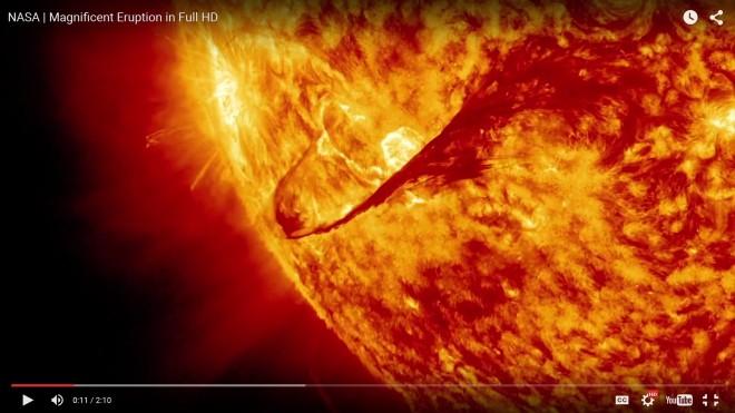 Solar Flare May 5, 2015. Photo Credit: NASA/Goddard/S. Weissinger on-line at http://www.nasa.gov/feature/goddard/nasas-sdo-observes-cinco-de-mayo-solar-flare