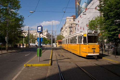 Villamos (Electric Tram) in Budapest. Photo Credit: